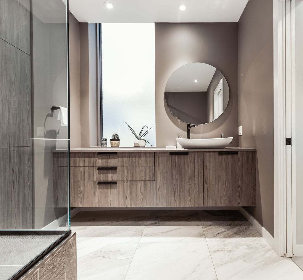 warm comfort bathroom remodel project