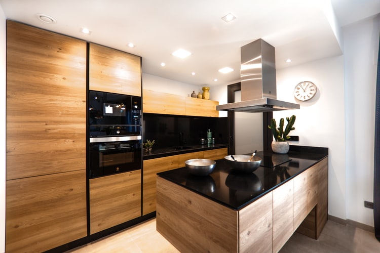 brown wooden kitchen
