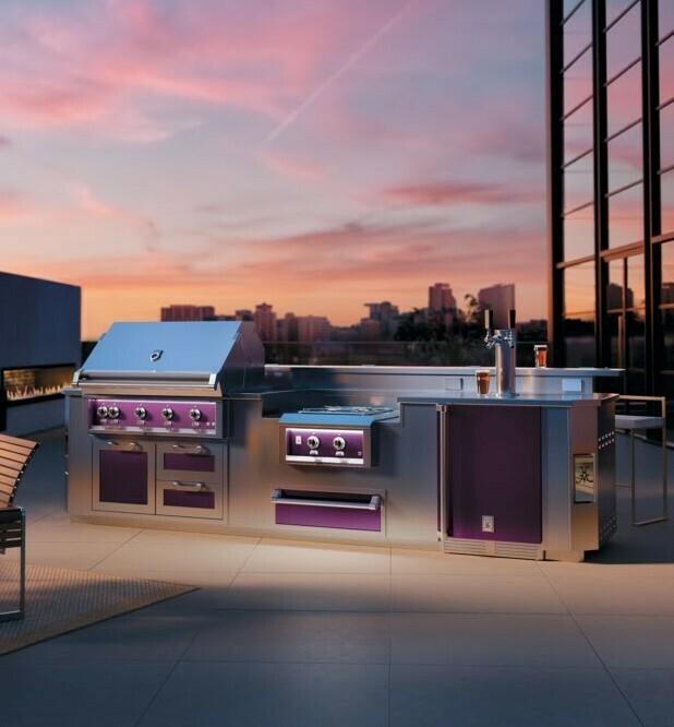 Hestan Outdoor Rooftop Lush Full Kitchen Glam 2