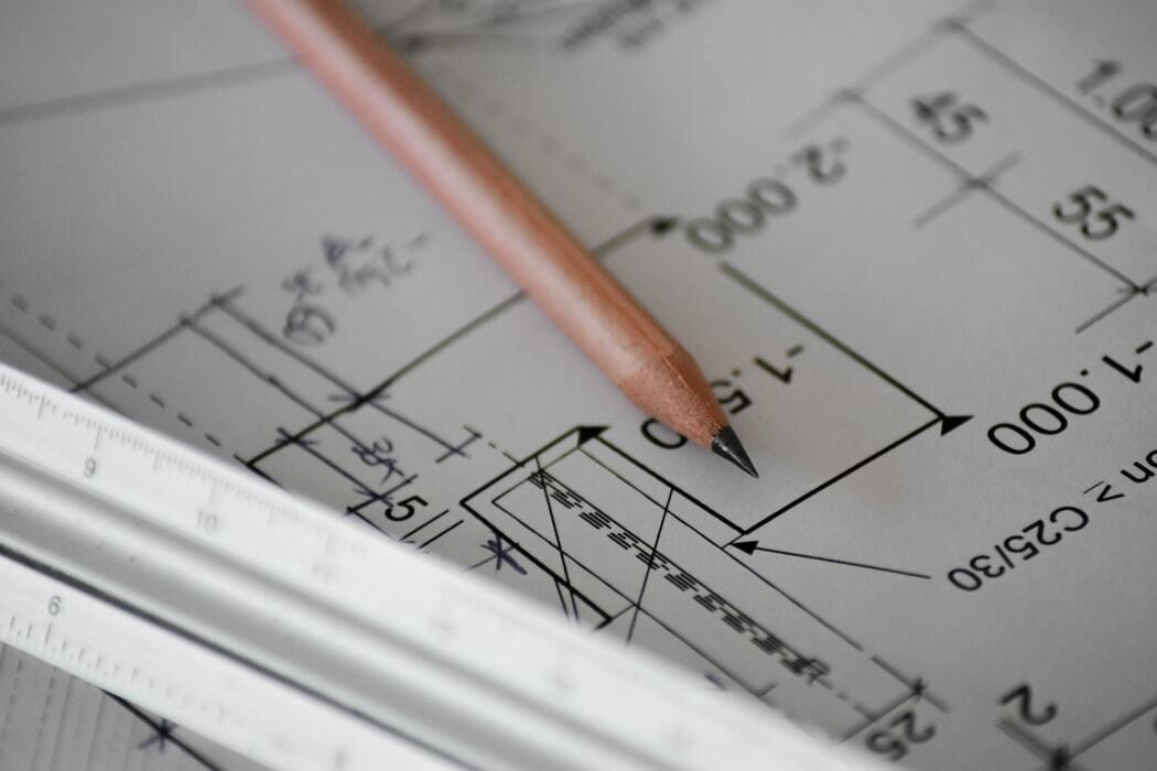 measuements on blueprints