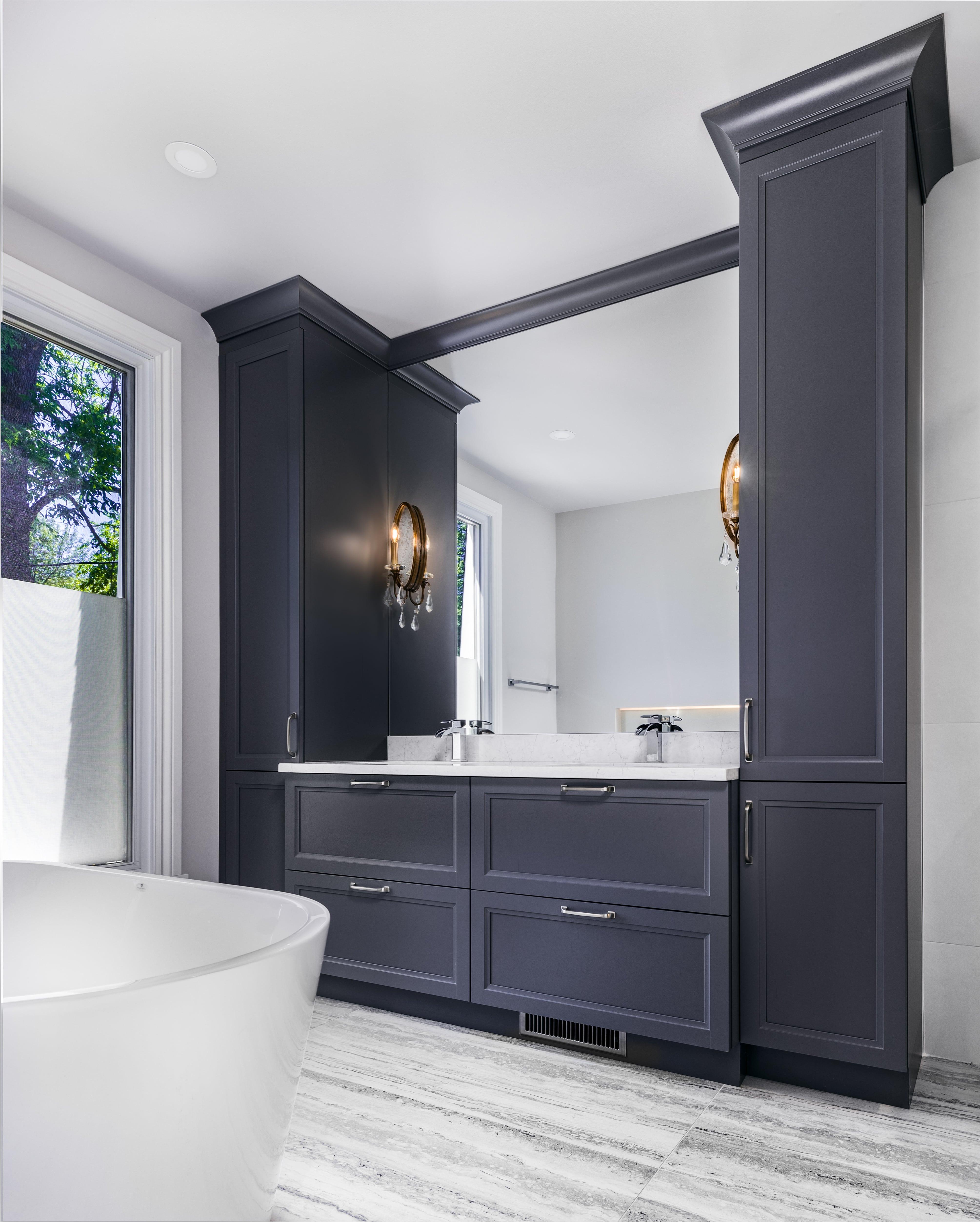 contemporary zen bathroom remodel project